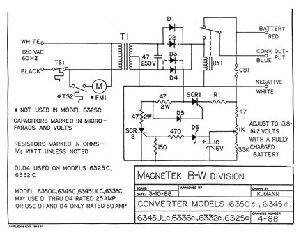 magnatek_6300_series_schematics no dc power with fully charged batteries Magnetek Power Converter 6345 Upgrade at aneh.co